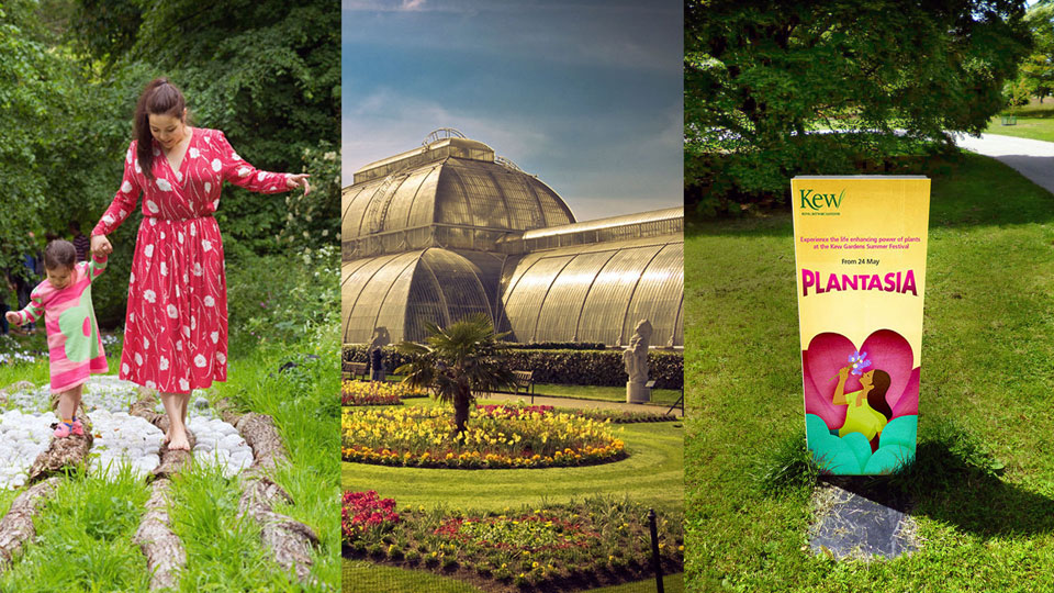 Outdoor banners for Plantasia 2014 brought the campaign to life in Kew Gardens