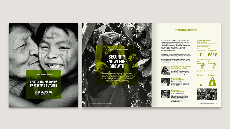 Rainforest Foundation UK - marketing and advertising creative