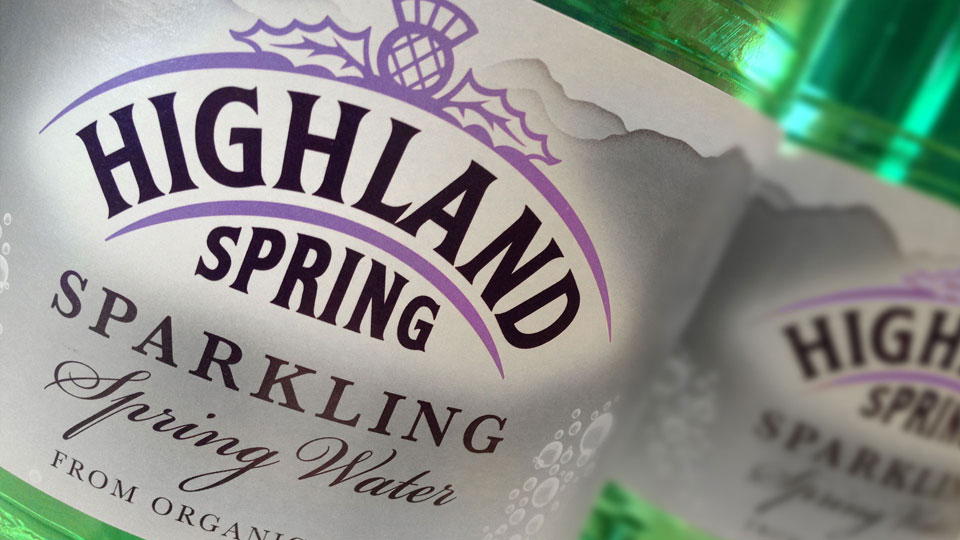 Branding and packaging design for Highland Spring