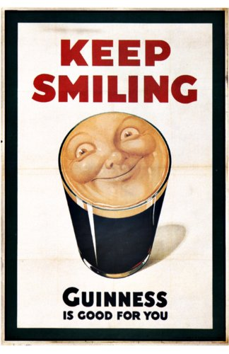 Keep Smiling - Guinness is good for you advertising creative