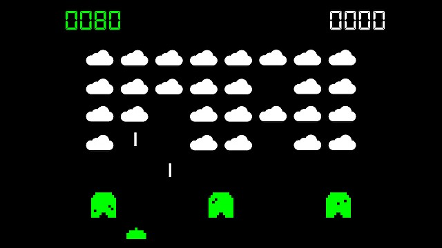 Cloudbusting graphic - computer game illustration