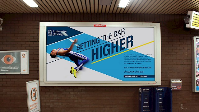 Glasgow University -  2014 Commonwealth Games campaign poster in the Glasgow underground