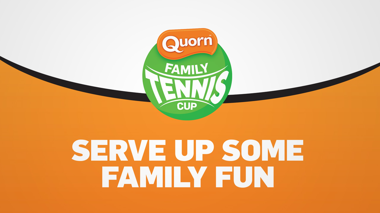 Logo and new identity for the LTA Quorn Family Tennis Cup