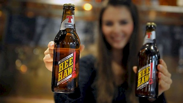 Tennent's Hee Haw bottle design and packaging