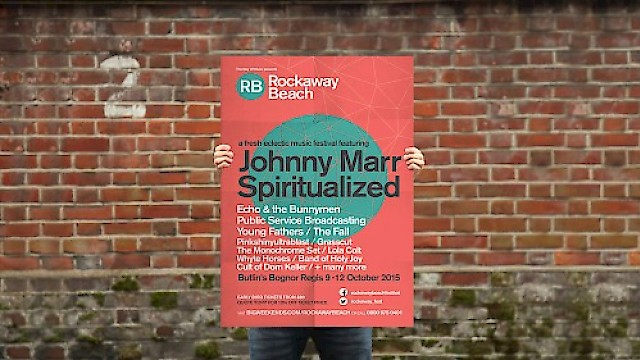 Rockaway Beach music festival poster design and branding