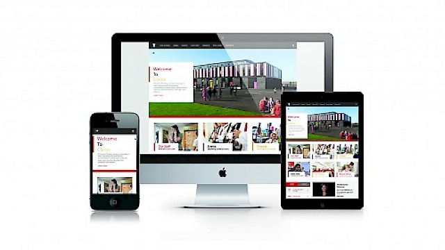 Cairns Primary school - responsive website design on desktop, tablet and mobile