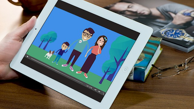 Spark Energy's direct debits animation on iPad screen
