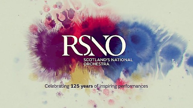 Royal Scottish National Orchestra's logo and creative for their 125th anniversary celebrations
