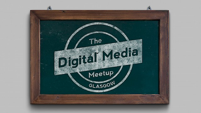 Logo for Digital Media MeetUp group in Glasgow