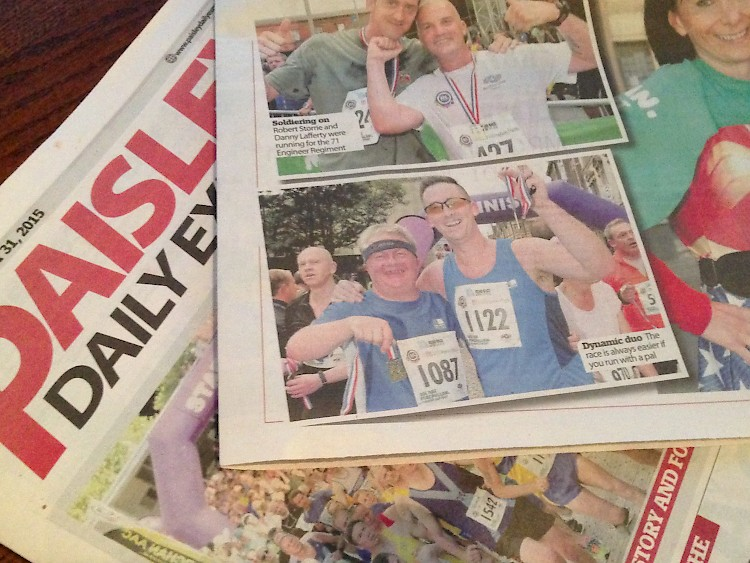10K runners Lewis and Keith, find fame in the Paisley Express