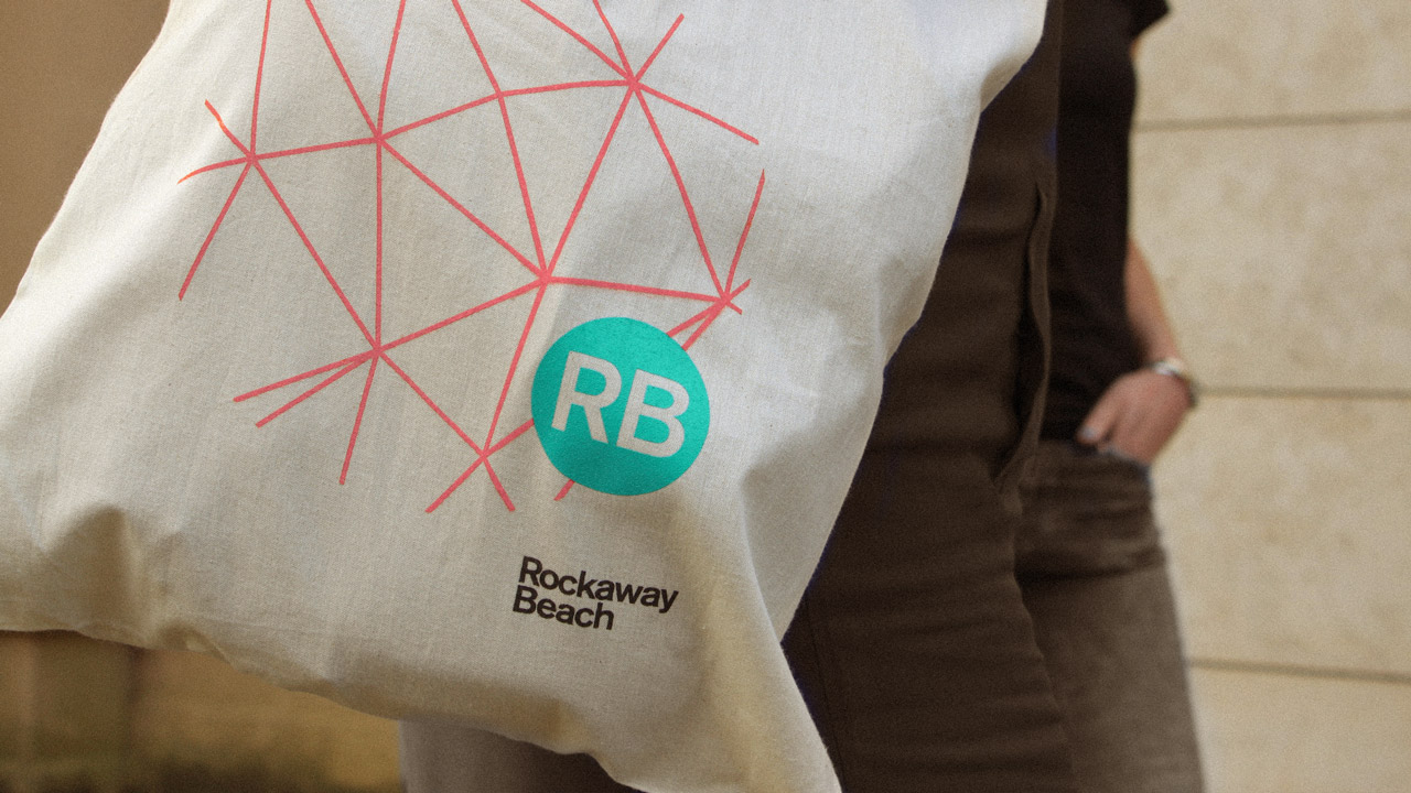 Rockaway Beach - branding and logo on tote bag
