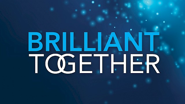 Brilliant Together logo and branding for CMJ Conference