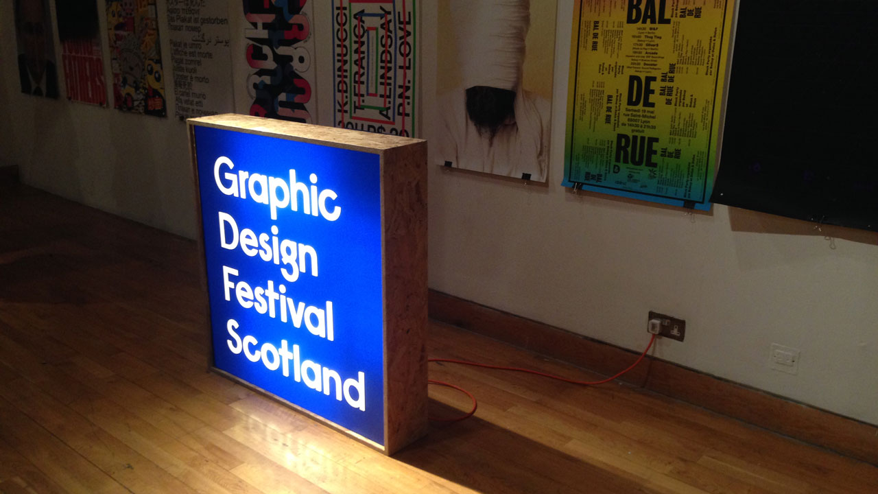 Sign for the Glasgow Design Festival Scotland 2015