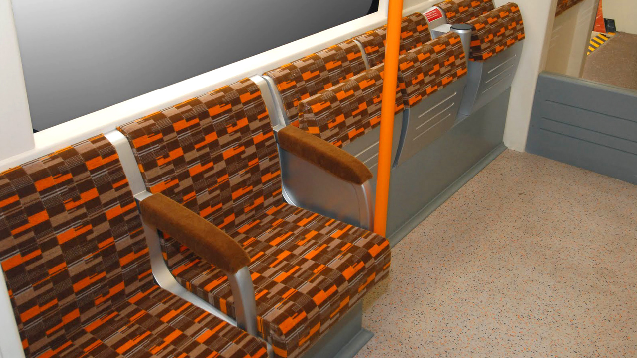 london underground moquette material of memory transport moquettes of britain the london. Black Bedroom Furniture Sets. Home Design Ideas