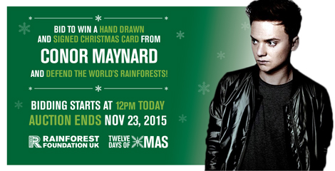 999 Design - flyer for RFUK - 12 days of Christmas Campaign - Conor Maynard