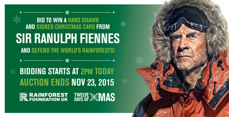 999 Design - flyer for RFUK - 12 days of Christmas Campaign - Sir Ranulph Fiennes