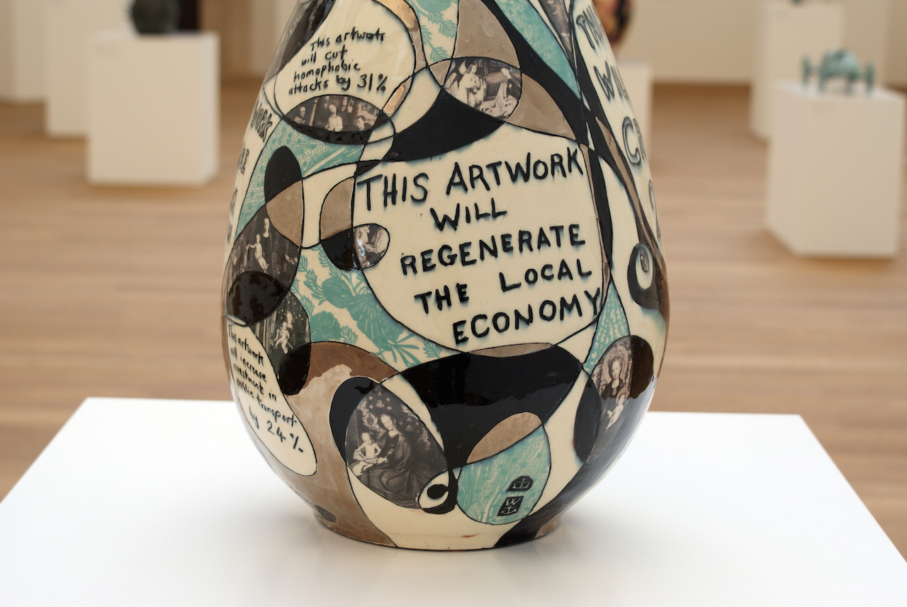 Grayson Perry vase - This artwork will regenerate the local economy