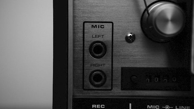 Mic sockets - left and right
