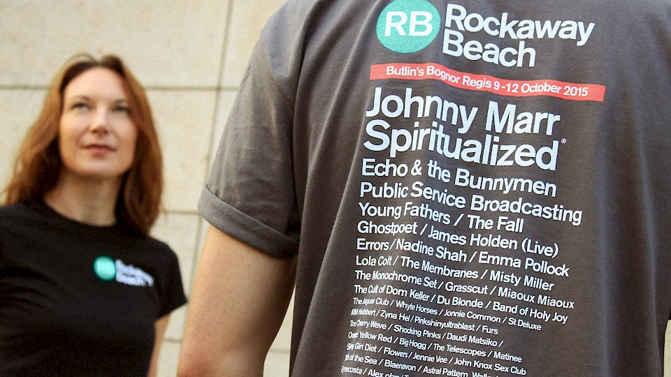 Rockaway Beach festival t-shirt design by 999 Design