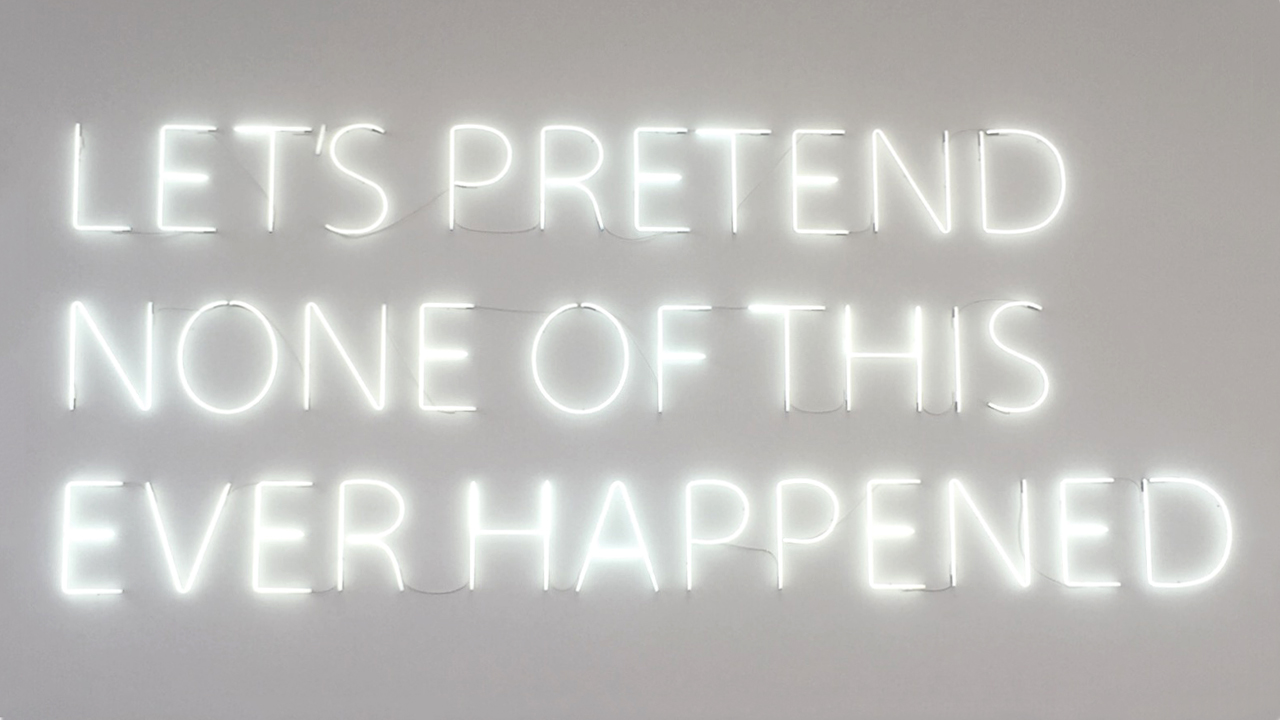 Lumiere London - MORE SPACE - Let's Pretend by Tim Etchells