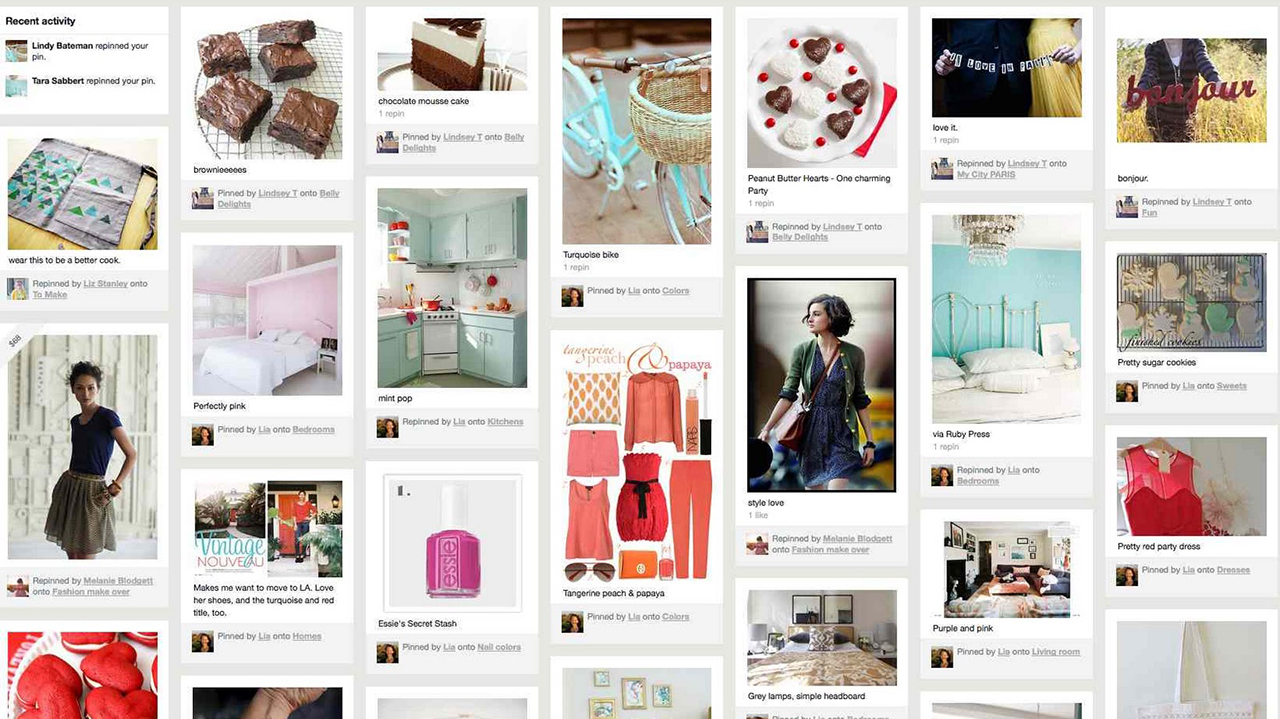 Pinterest - fashion and lifestyle images