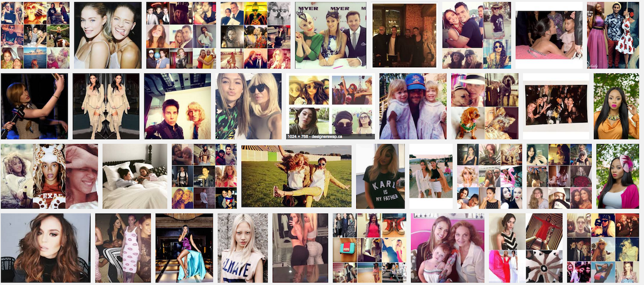 Fashion and celebrity Instagram photographs