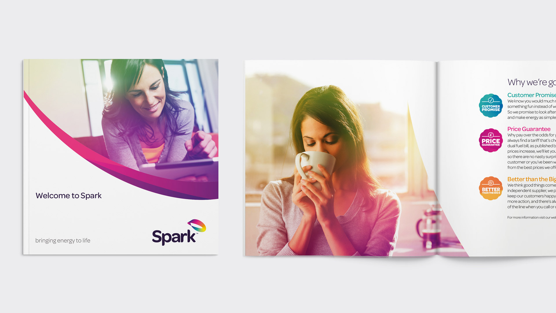 Branded Spark Energy marketing materials