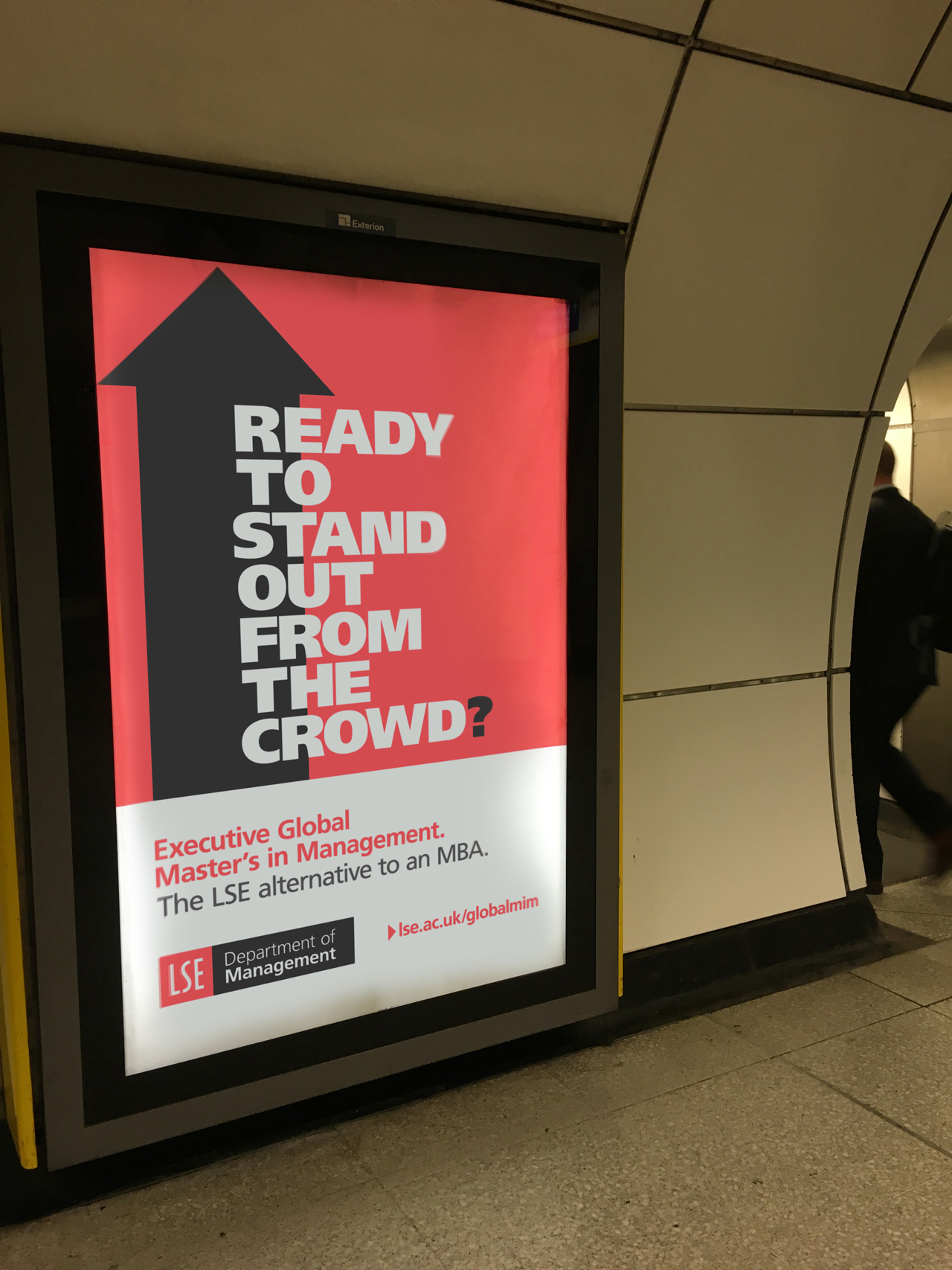 Advertising creative for LSE in London's Underground