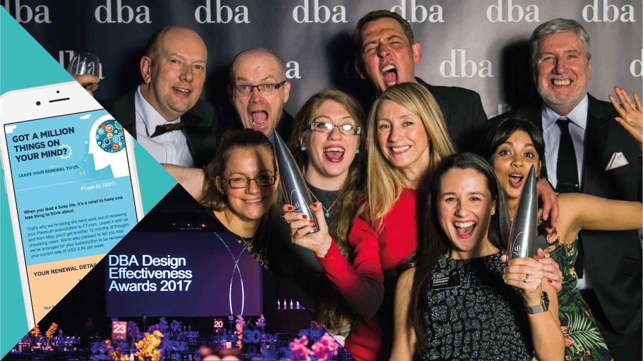 The DBA Gold award winning teams - Financial Times and 999 Design