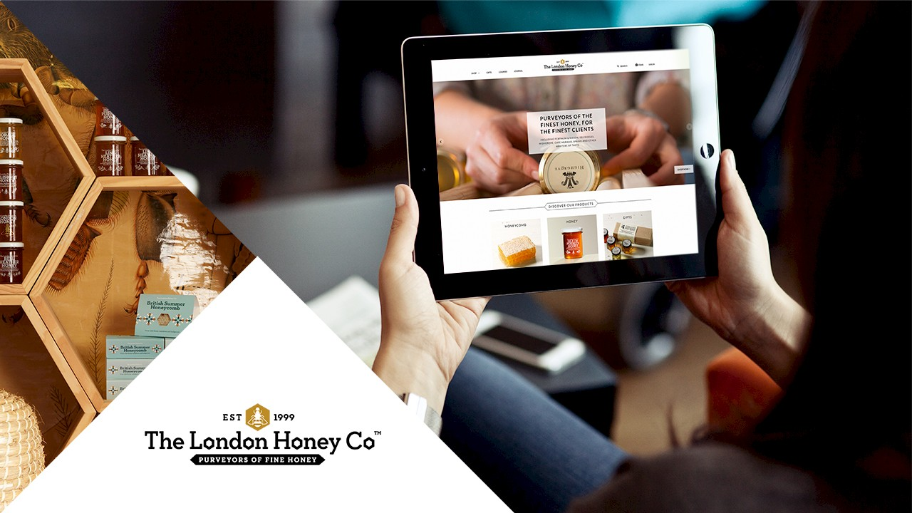 The London Honey Company logo and website
