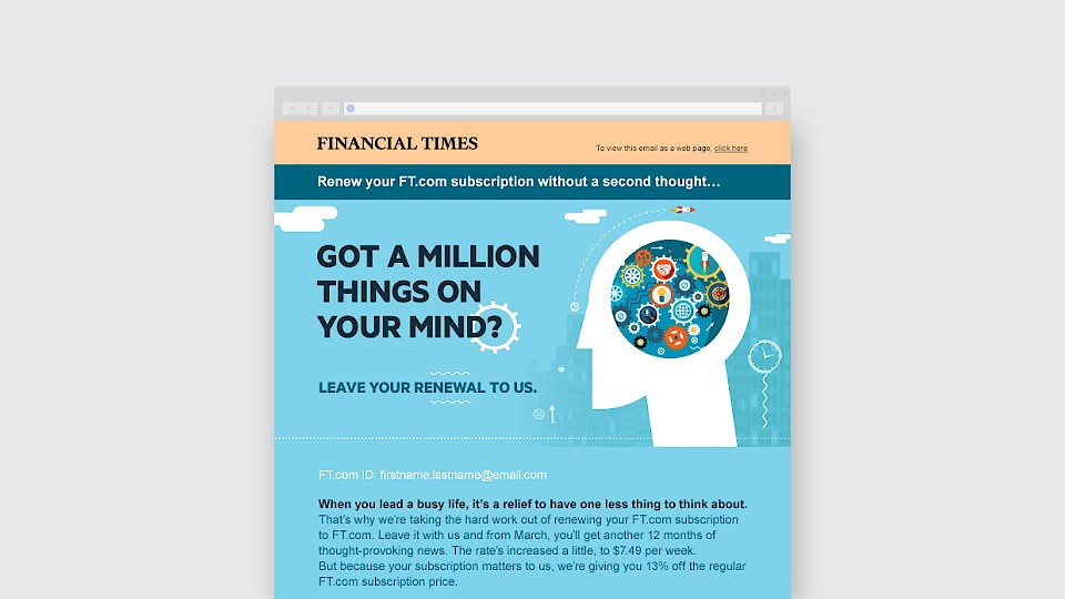 Financial Times messaging
